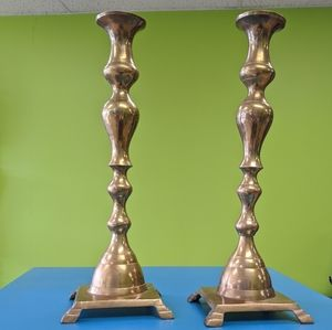Pair of Vintage Brass Candle Stick Holders